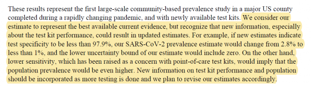 The Stanford study contains an impressive set of statistical caveats, but those are lost in the sensationalist headlines and sound bytes it has generated.