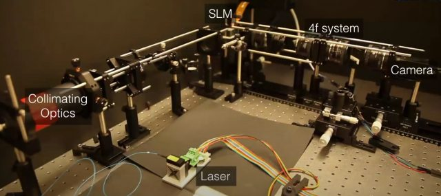 Stanford's Neural Holography Lab setup features cameara-in-the-loop simulation