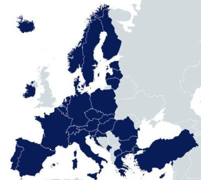EuroHPC map