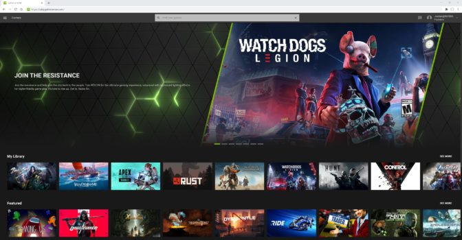 GeForce NOW on Chrome