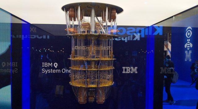 IBM Q System One display