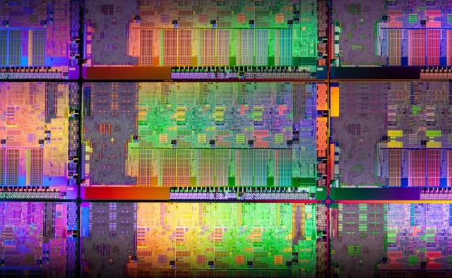 Intel Sandy Bridge CPU die shot